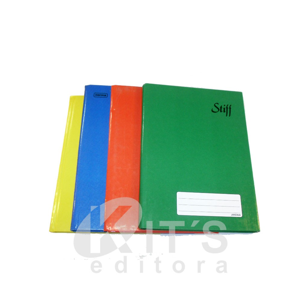 Caderno capa dura - pequeno brochura - 100 folhas - (IMAGEM ILUSTRATIVA)